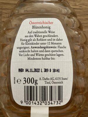 Darbo Blütenhonig - Zutaten - de