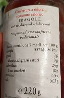 Marmellata d'arbo ipocalorica - Nährwertangaben - en