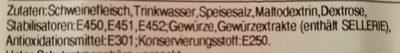 Farmer Schinken - Ingredients - de