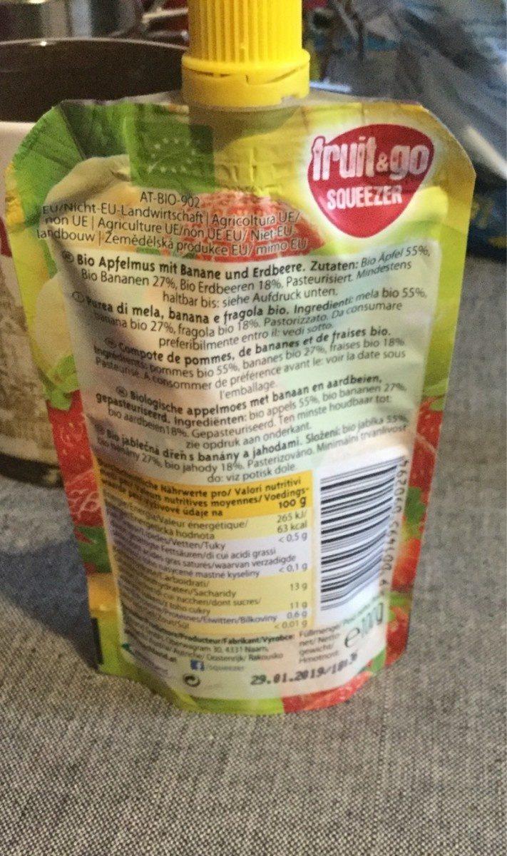 Machland Bio Fruitsnack Apfel Banane Erdbeere - Product - fr