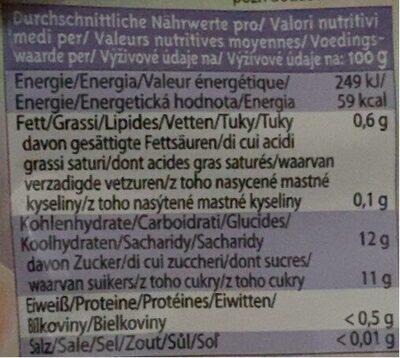 Fruit & go squeezer - Nutrition facts - fr