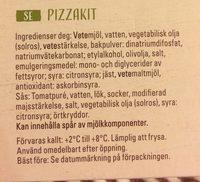 Pizza kit - Ingrédients