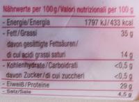 Das Tiroler Chiliwurzel - Nährwertangaben