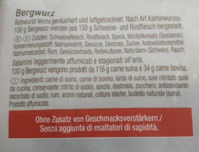 Tiroler Bergwurtz - Ingredients