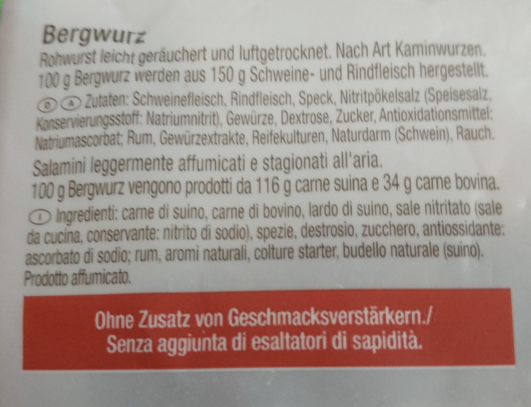 Tiroler Bergwurtz - Ingredients - de