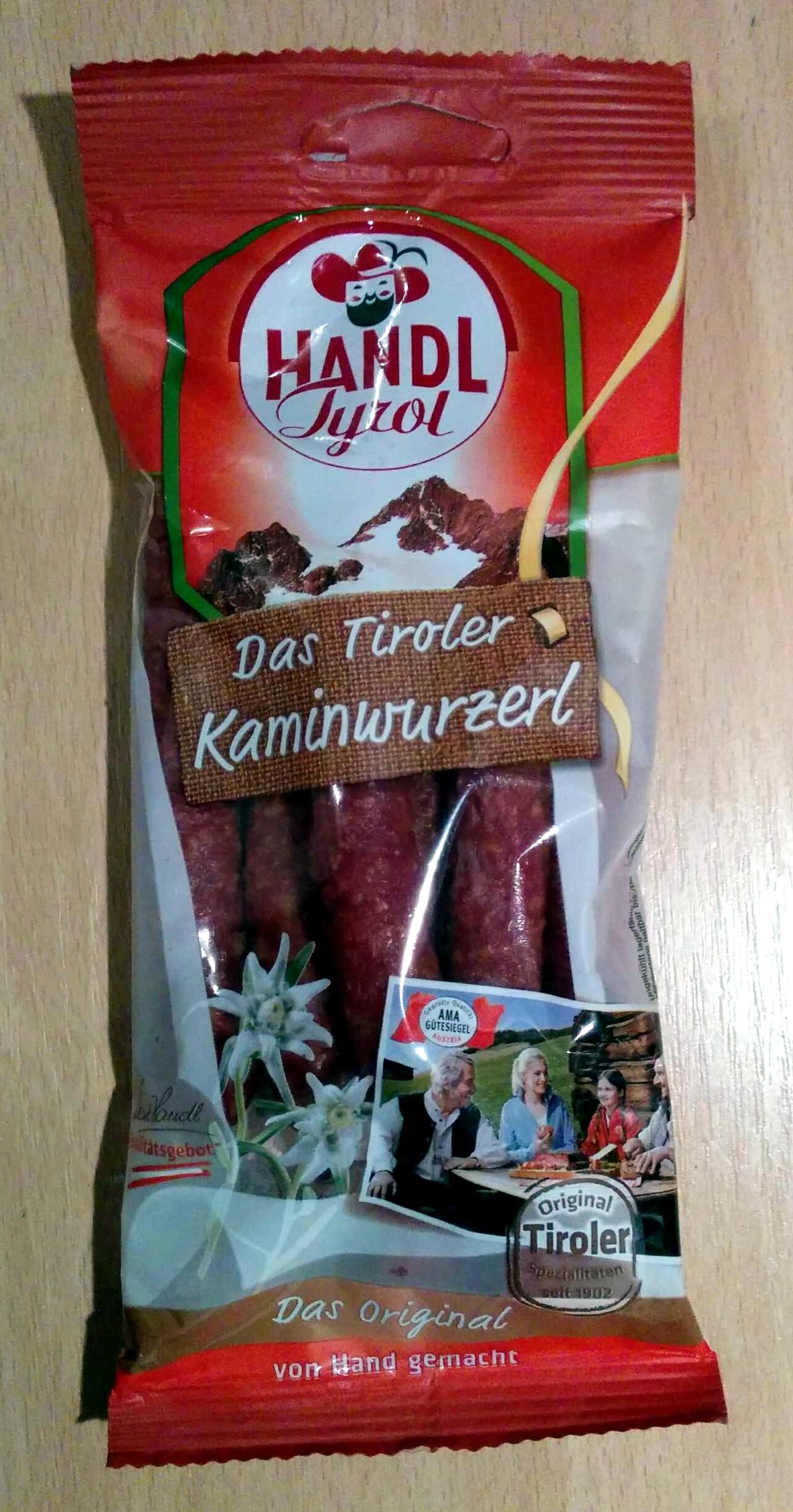 Das Tiroler Kaminwurzerl - Produkt