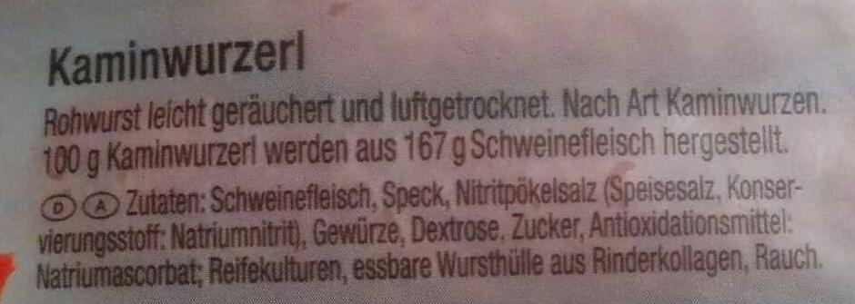 Das Tiroler Kaminwurzerl - Inhaltsstoffe