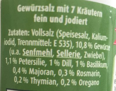 Bad Ischler Gewürzsalz mit 7 Kräutern - Ingrédients