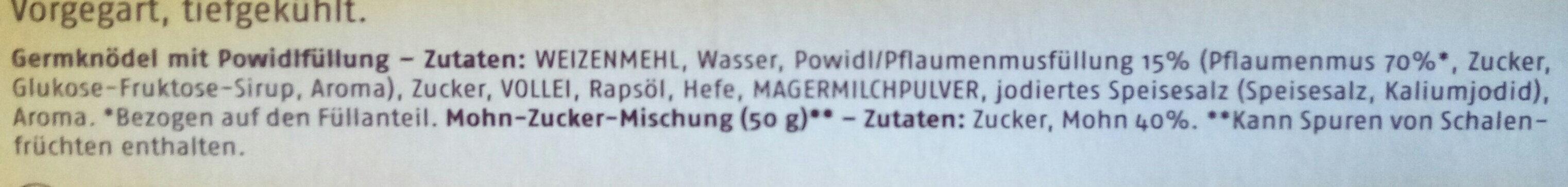 Riesen-Germknödel mit Mohn-Zucker - Ingredients - de