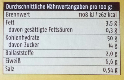 Riesen-Germknödel mit Mohn-Zucker - Nutrition facts - de