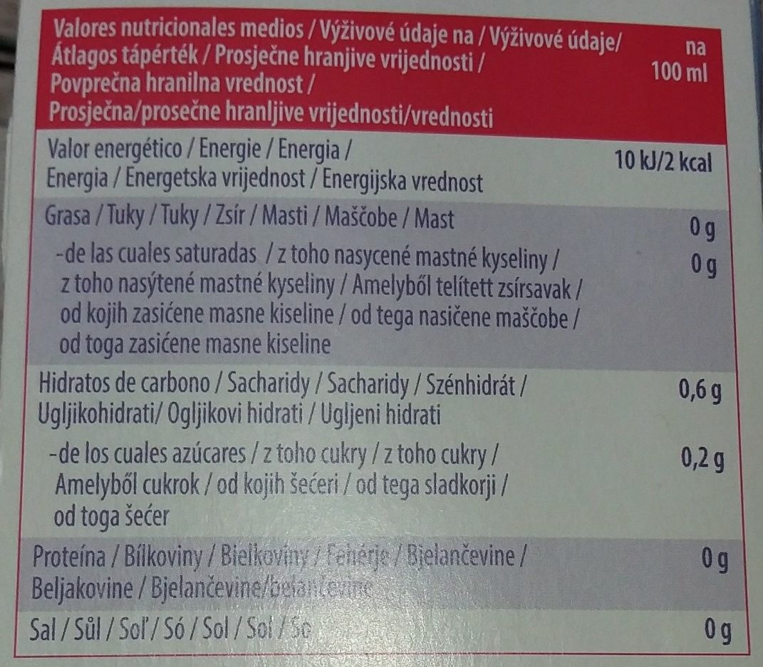 French Moment - Nutrition facts - fr