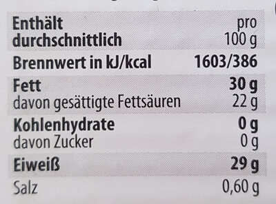 Heumilch Emmentaler - Nutrition facts