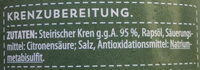 Steirischer Kren gerieben - Ingrediënten