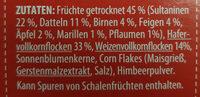 Früchte Müsli - Ingredients - de