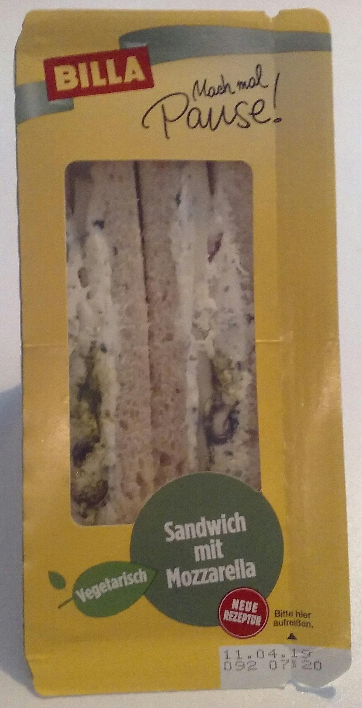 Sandwich mit Mozarella - Produit - de