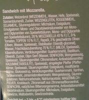 Sandwich mit Mozarella - Ingrédients - de