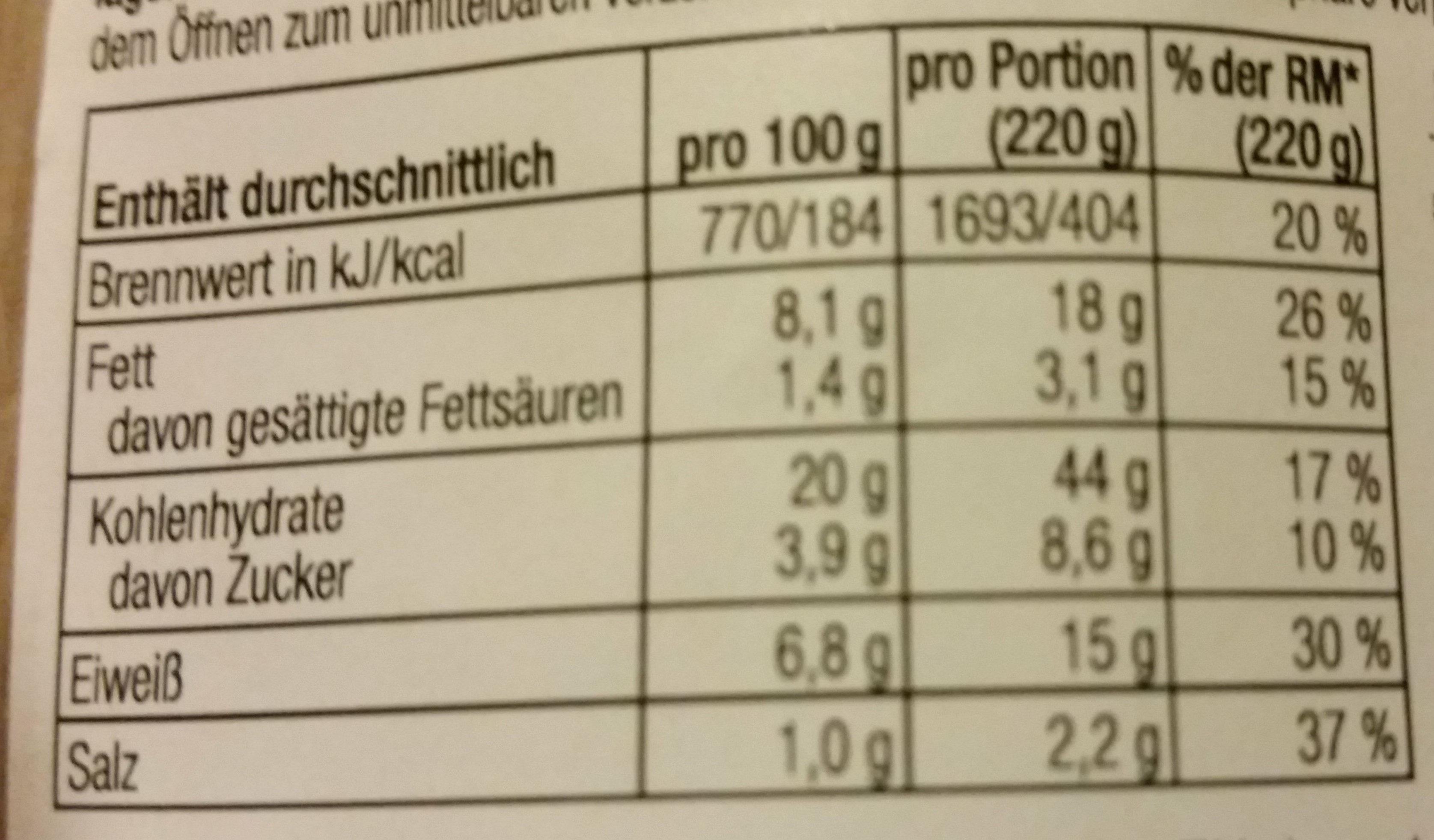 Pita Roll mit Thunfisch, Salat und Gemüse - Voedingswaarden - de
