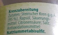 Kren - Ingrédients - de