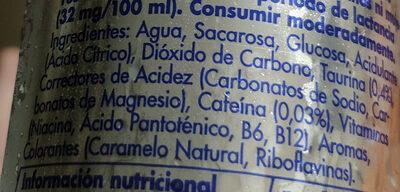 Red Bull - Ingredientes - es