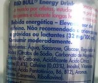 Red Bull - Inhaltsstoffe