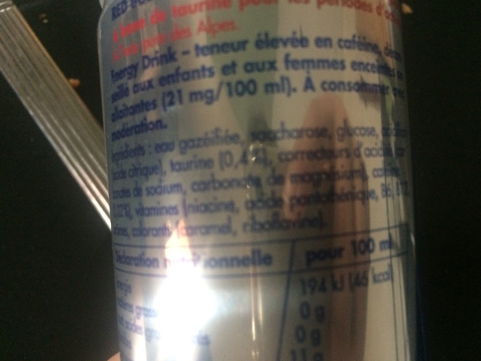 Red Bull Energy Drink - Ingredients