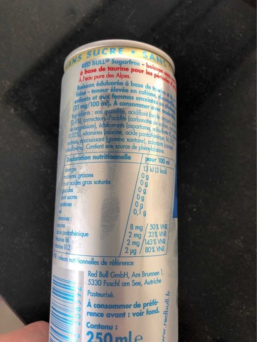 Energy Drink - Nutrition facts - fr