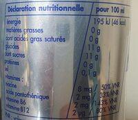 Boisson énergisante - Valori nutrizionali - fr