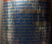 Red Bull Sugarfree - Ingrédients - sv