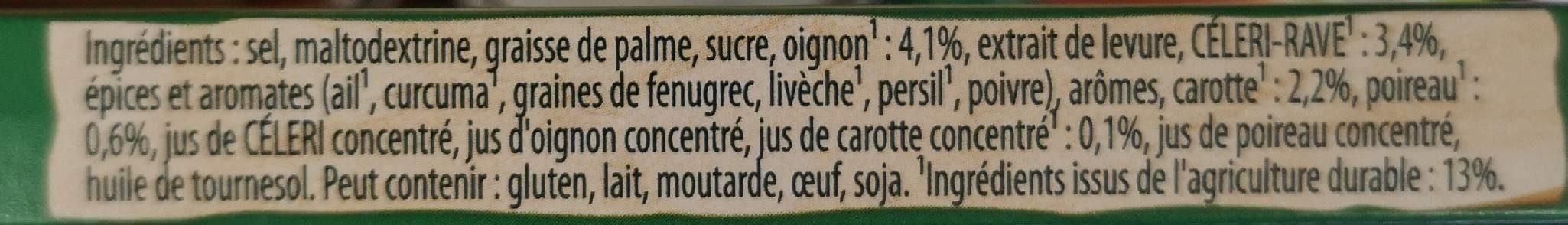 Bouillon légumes - Ingredients