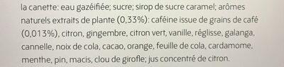 Organics cola - Ingrédients - fr