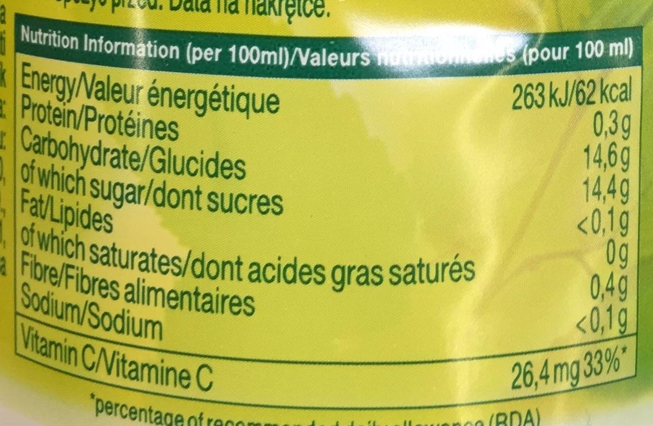 Banane - Informations nutritionnelles - fr