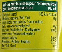 Jus d'orange Bios - Informations nutritionnelles - fr
