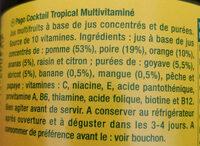 100% jus à base de jus concentrés et de purées - Ingrédients - fr