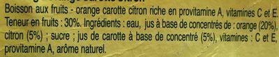 Pago - Ingrédients - fr