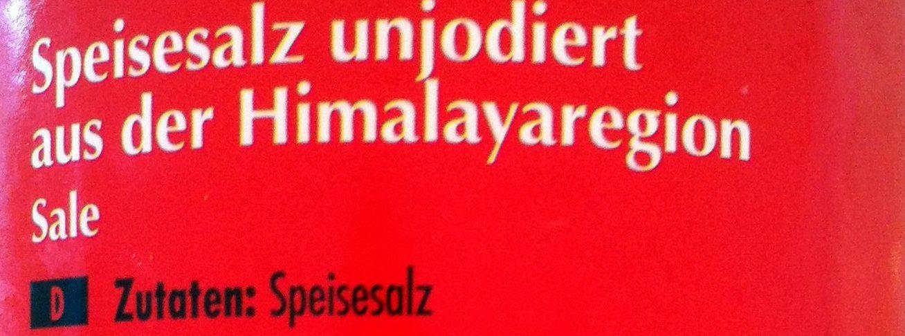 Himalaya Salz unjodiert - Ingrediënten