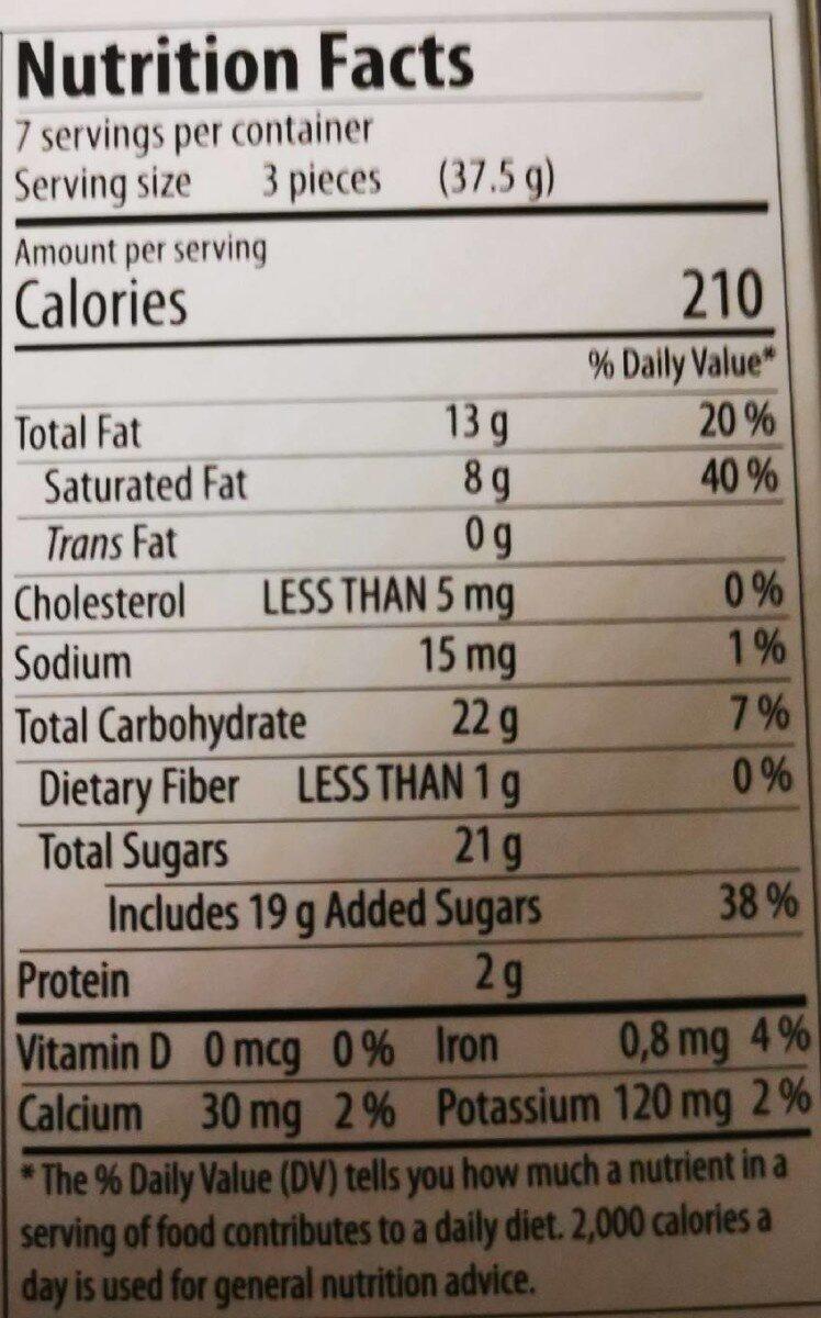 Feine Meeresfrüchte, Schokoladepralinen - Nutrition facts