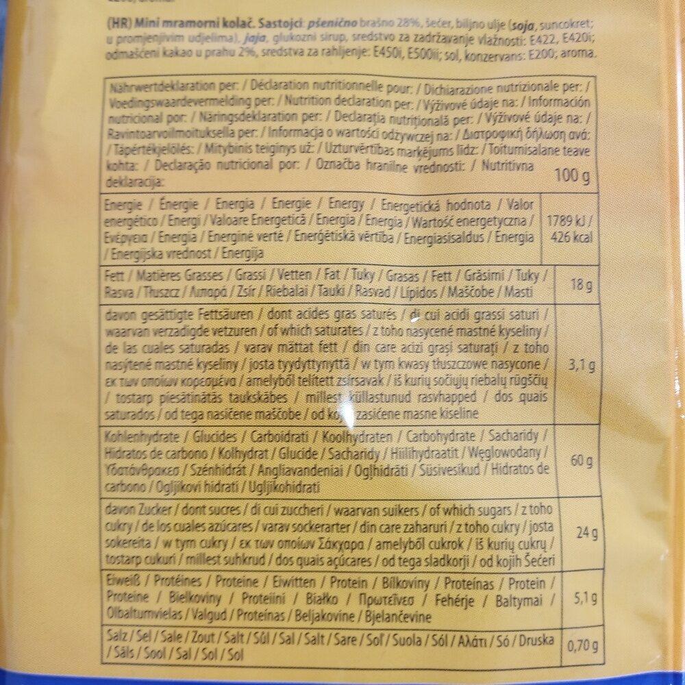 Mini Muffins - Informations nutritionnelles - de