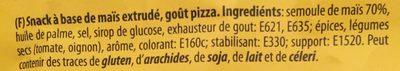 Mais Rings Mit Feinem Pizza-geschmack Im 125g Beutel Von Snackline - Ingrediënten - fr