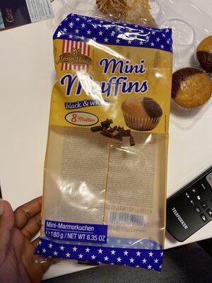 Mini Muffins Black & White 8er 180g Blister Meister Moulin - Produit - fr