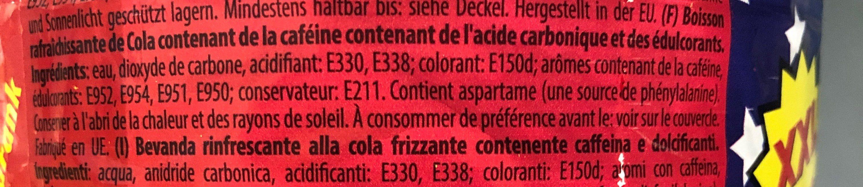 Cola XL Size - Ingrédients
