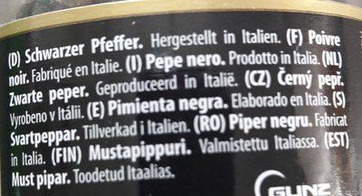 Grinder Black Pepper 50g Niko - 成分 - fr
