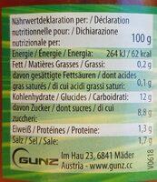 Mexikanische Tomatensauce, Mild 300g Glas Don Fernando - Informations nutritionnelles