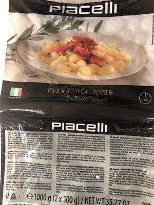 "Gnocchi ""di Patate"" Aus Kartoffeln 1kg Blister Piacelli - Product - fr"