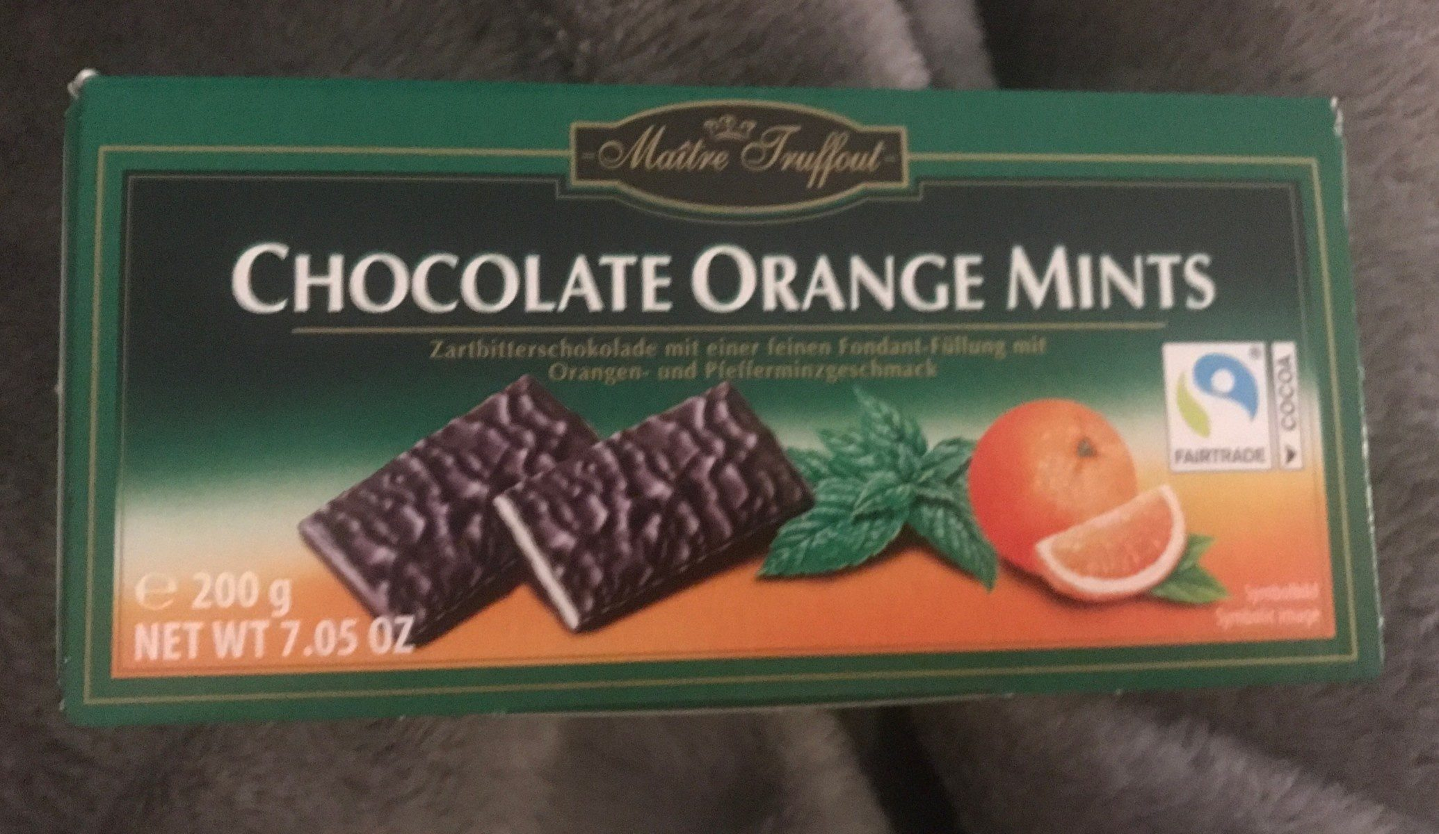 Schokolade Zartbitter Blätter Mit Orangen - Product
