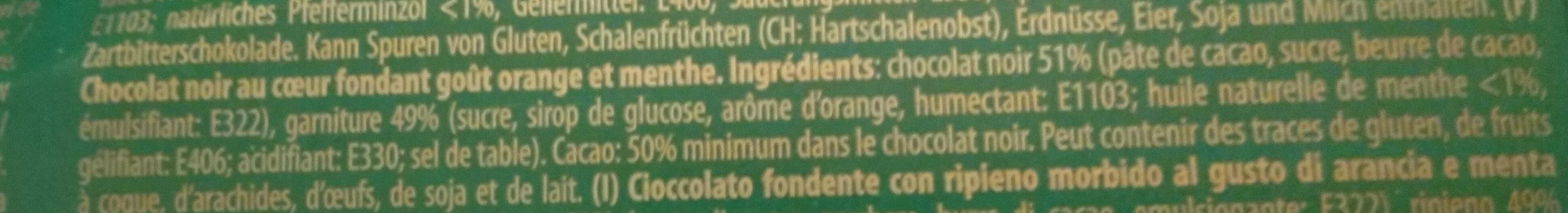 Schokolade Zartbitter Blätter Mit Orangen - Ingredients