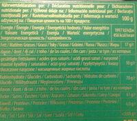 Schokolade Zartbitter Blätter Mit Orangen - Nutrition facts