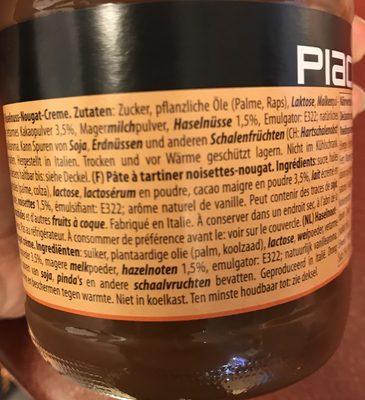 Haselnuss-nougat-creme Duo 400g Glas Piacelli - Ingrédients - de