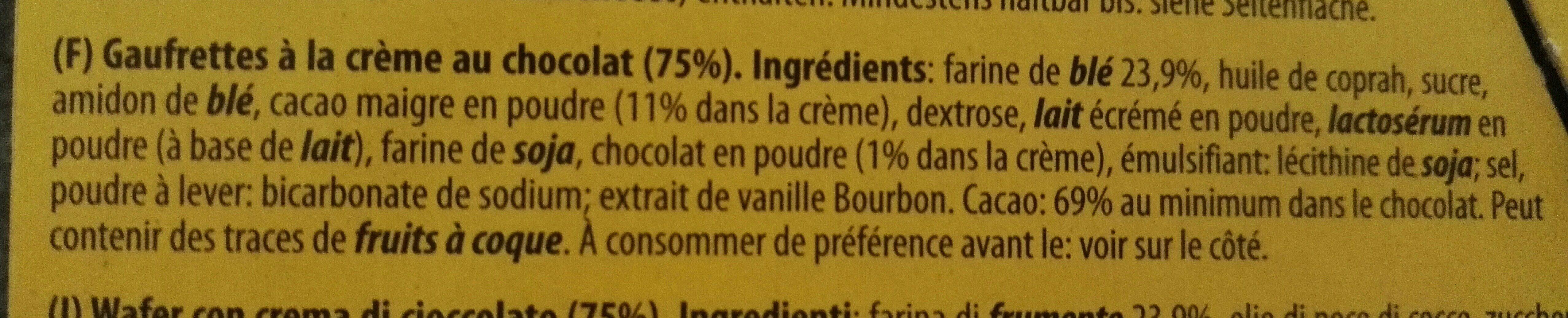 Wafers Choco - Ingrédients