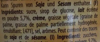 Milk caramel - Ingredients - fr