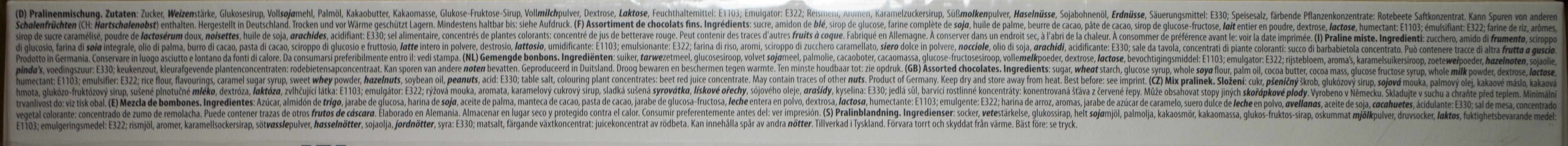 Feine Pralinen-Auswahl - Ingredients - de